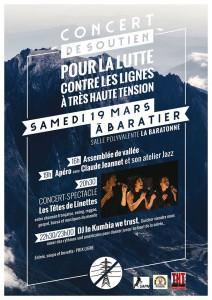 Concert de soutien, Tous à Baratier ce samedi !